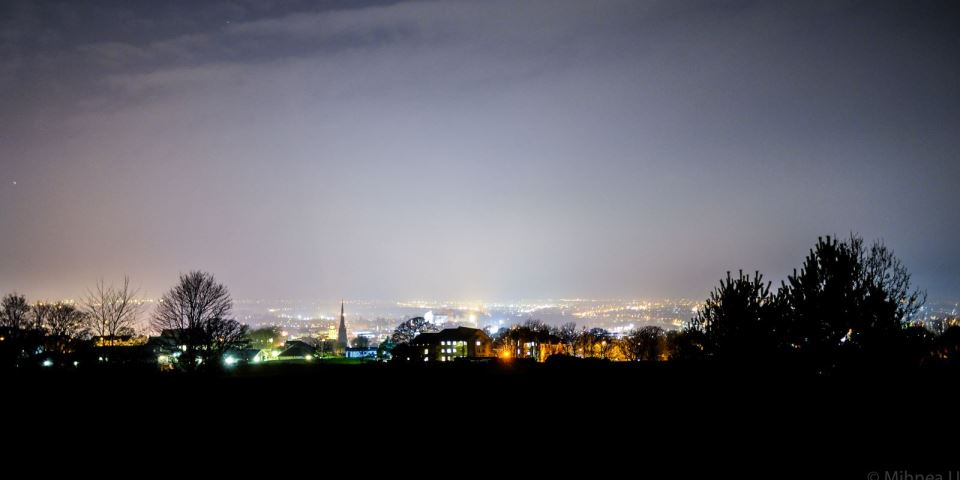 View of Lancaster by night