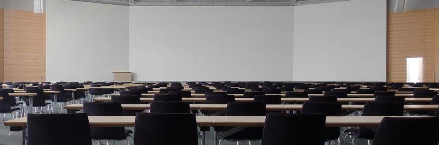 Classroom with empty chairs