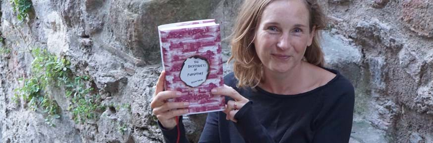 Helen Taylor with her new book