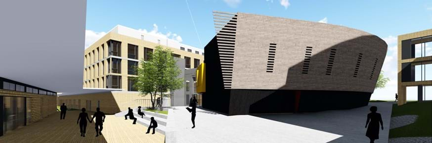 Architects impression of the new lecture theatre