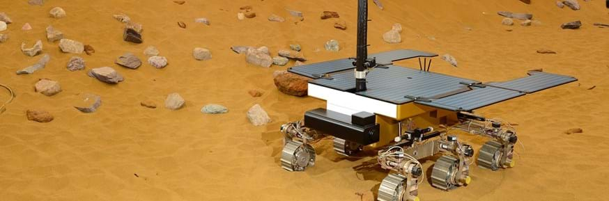 The winners were given a tour of the Mars Yard at Airbus which is a simulation of the Martian environment