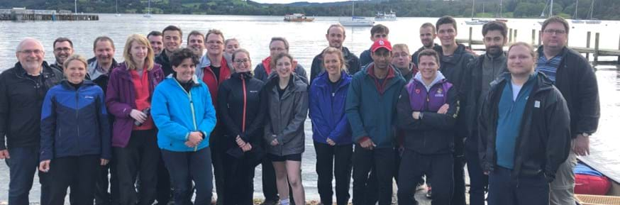 STOR-i students and staff enjoy a team building exercise in the Lake District.