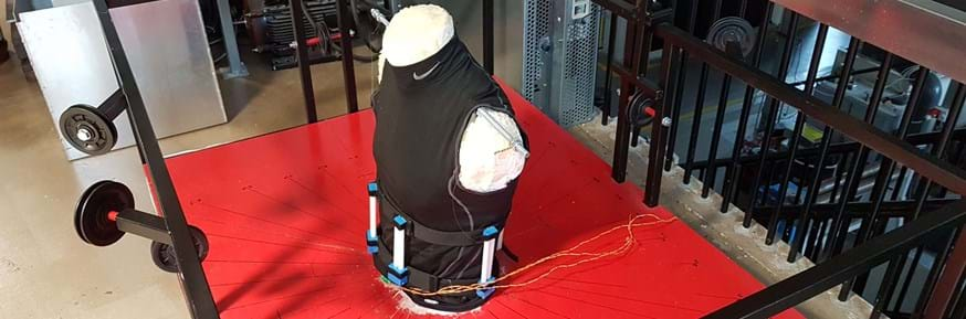 The back brace - picture of dummy torso with brace showing