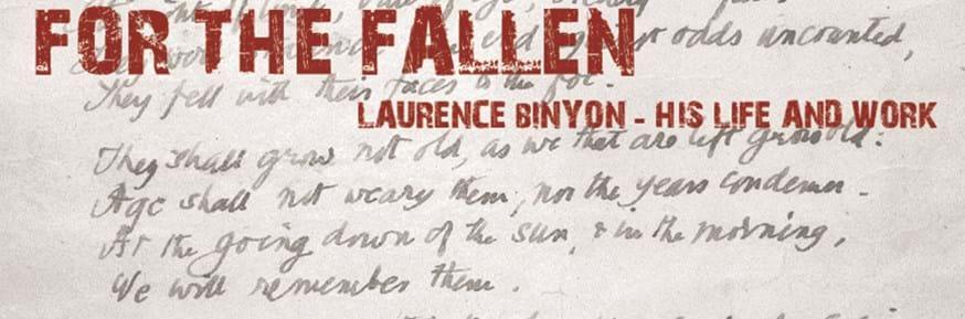 Manuscript of Binyon's 'For The Fallen'.