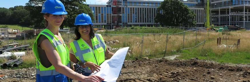 Angie Ridgewell with Dr Sherry Kothari at the new Health Innovation Campus
