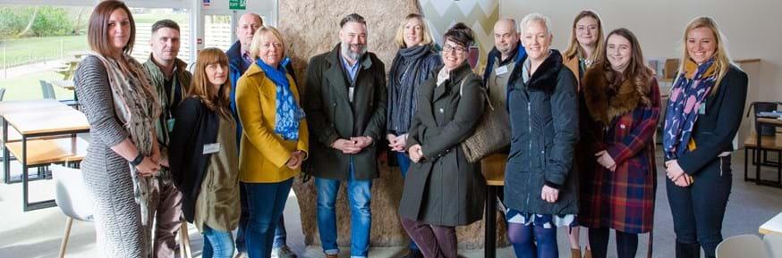 Cumbria Innovations Platform Innovation Development Programme delegates at Tebay Services with representatives from Westmorland Ltd