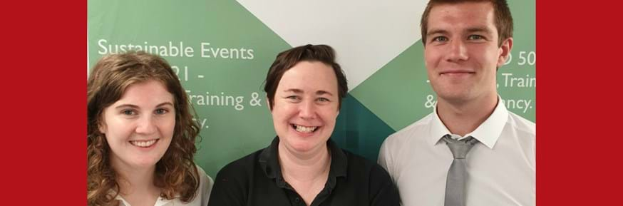 Becky Toal, Crowberry Consulting MD (centre) with new interns Lauren Hart and Cameron Wilson, from Lancaster University