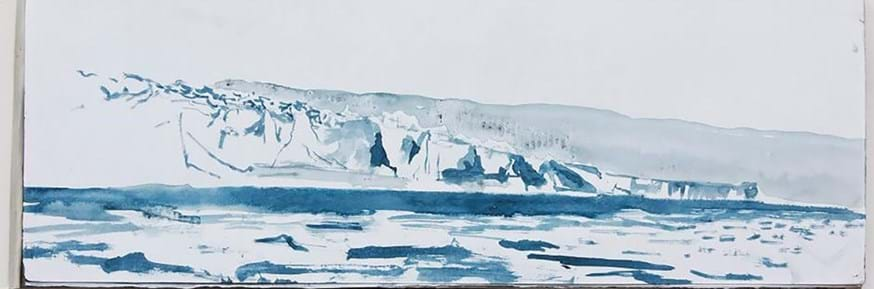 Image of Emma Stibbons painting called 'Glacier Terminus, Antartica' 2013