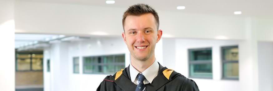 Prizewinning graduate Evan Brett