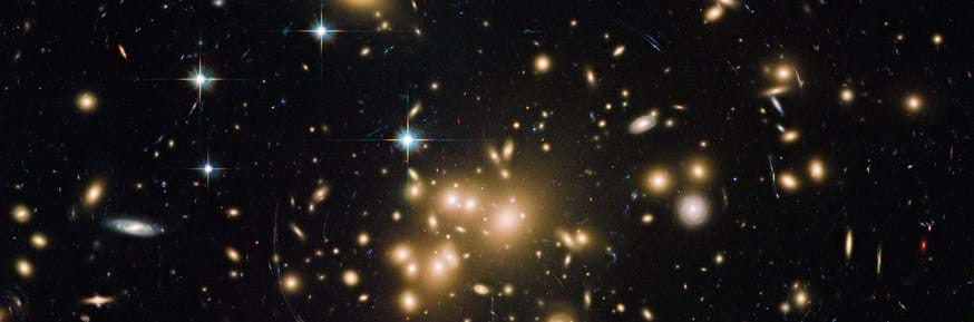 the galaxy cluster Abell1689.  Credit: NASA/ESA