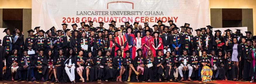 The Lancaster University Ghana graduating class of 2018