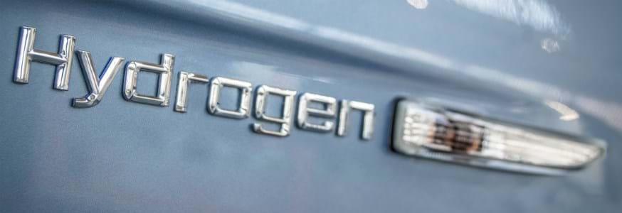 Hydrogen logo on a car