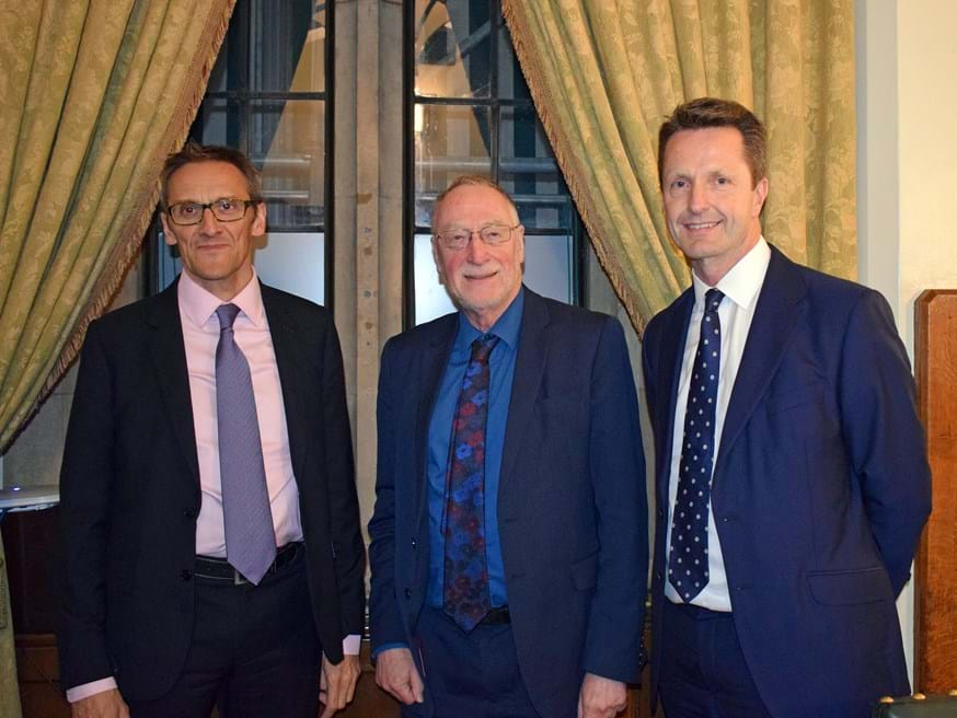 From left: Professor Martin Spring, Adrian Bailey MP and Chris Manson, CEO of Newable
