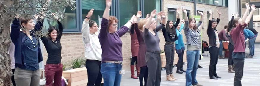 Staff and students dance to end gender-based violence