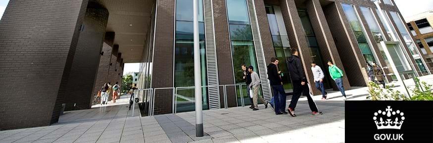 The Lancaster University Management School building.