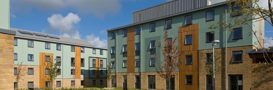 County College townhouses at Lancaster University.