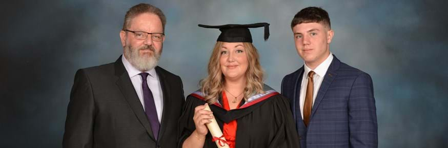 Laura McManus with her father and son