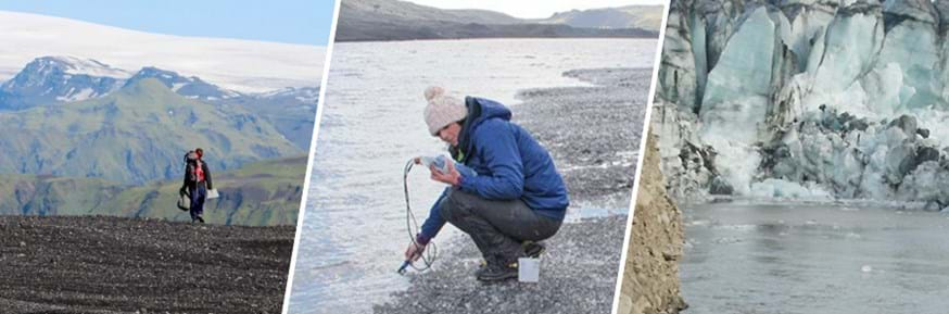 Researchers on the volcanoes and glaciers of Iceland