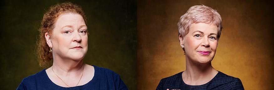 Professor Dame Sue Black (left) and Professor Louise Heathwaite CBE (right)