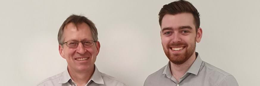 Jason Butler, Aftermarket Sales Director (Northern Europe) with Reflexallen UK (left), with new Reflexallen Marketing Manager Andrew Francomb, a LUMS Marketing graduate