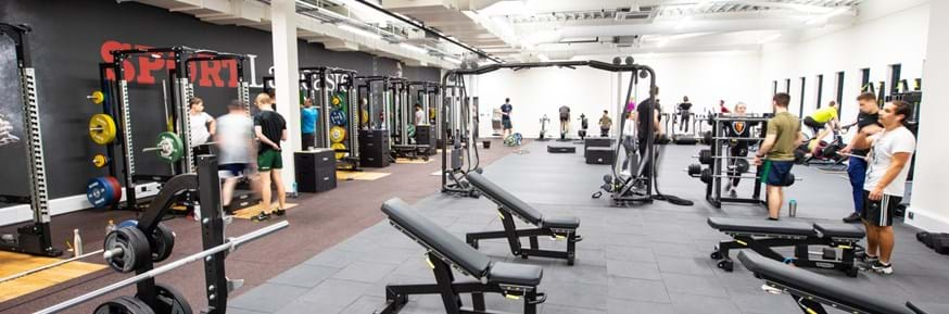 The new Strength & Conditioning Room at Sport Lancaster