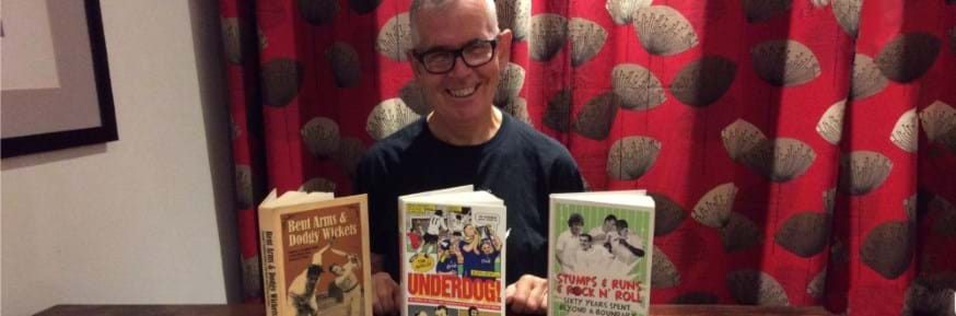 Tim Quelch with a selection of his books