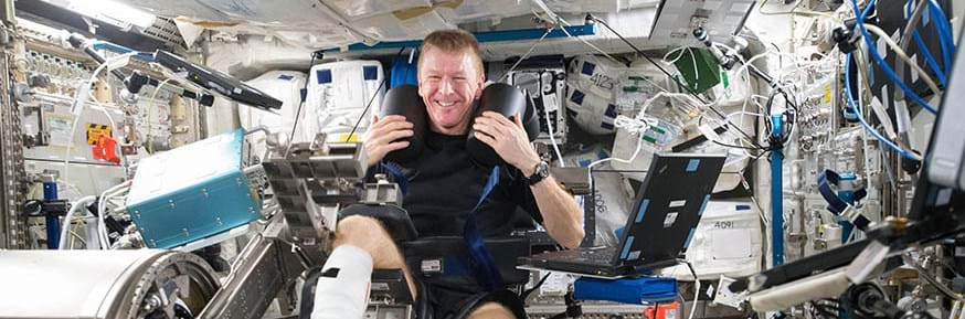 astronaut Tim Peake in space