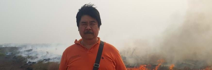Professor Bambang Hero Saharjo, who is Indonesia's lead expert witness on environmentally catastrophic peatland fires, was awarded the 2019 John Maddox Prize for his courage and integrity in standing up for sound science in the face of harassment, intimidation, and law suits.