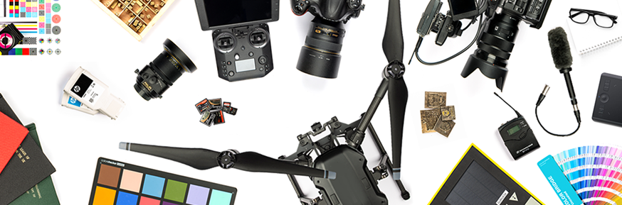 Objects related to filming, printing and design