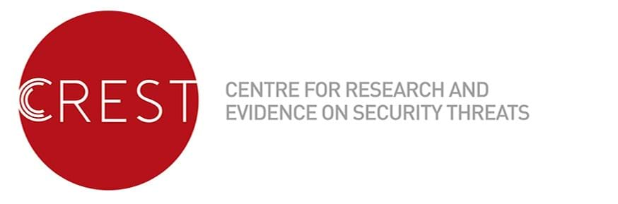 The logo of CREST (Centre for Research and Evidence on Security Threats).