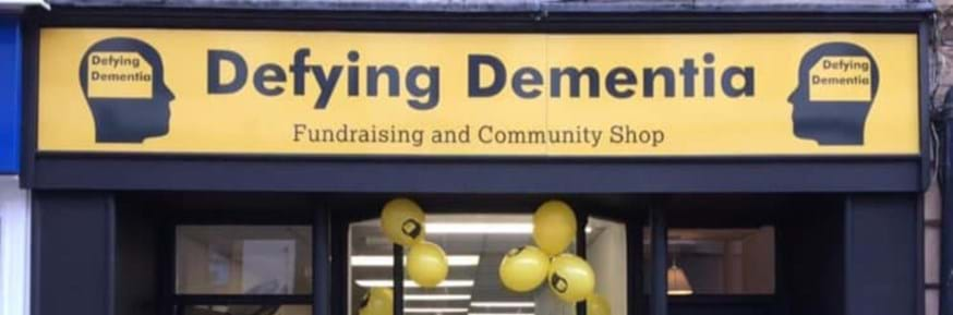 The Defying Dementia Fundraising and Community shop on Church Street, Lancaster