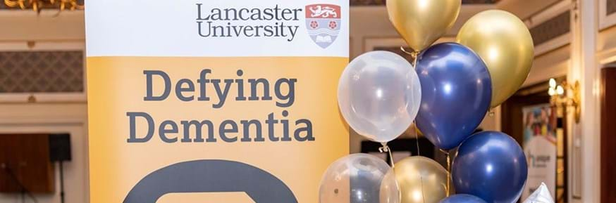 Defying Dementia banner from a recent event