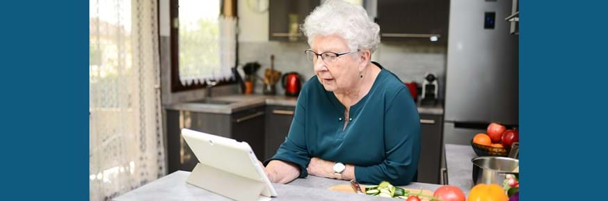 Older woman at home