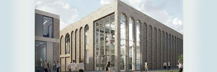An architect's image of the new building