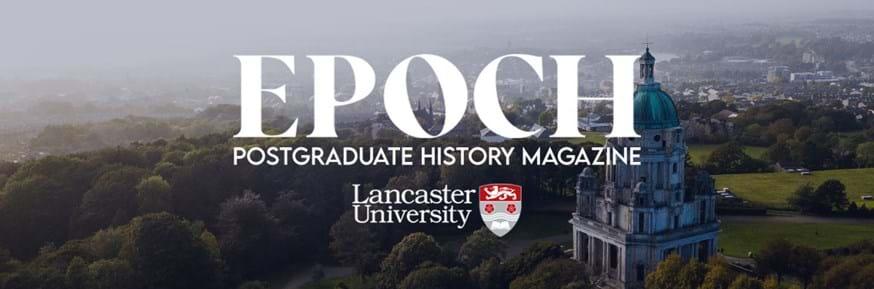 Backdrop photograph of the Ashton Memorial with EPOCH logo and University logo