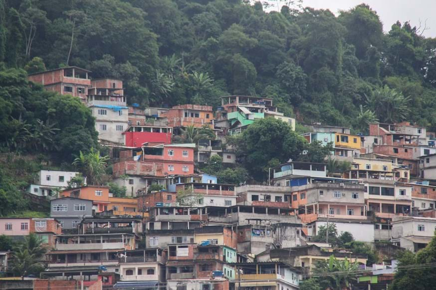 A favela district in Rio