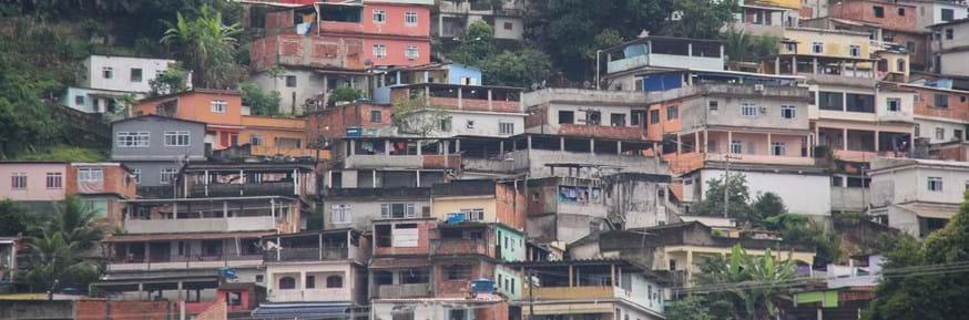 A favela district in Rio
