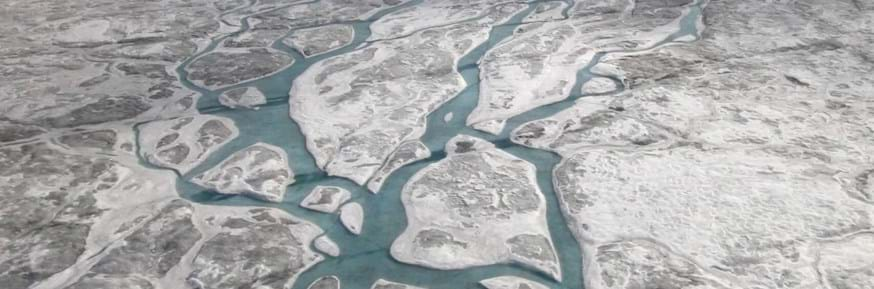 Surface meltwater in Greenland
