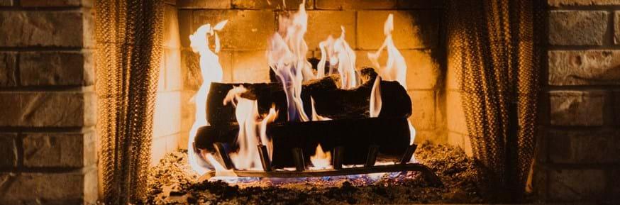 An open fire