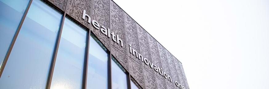 Images of new Health Innovation One building