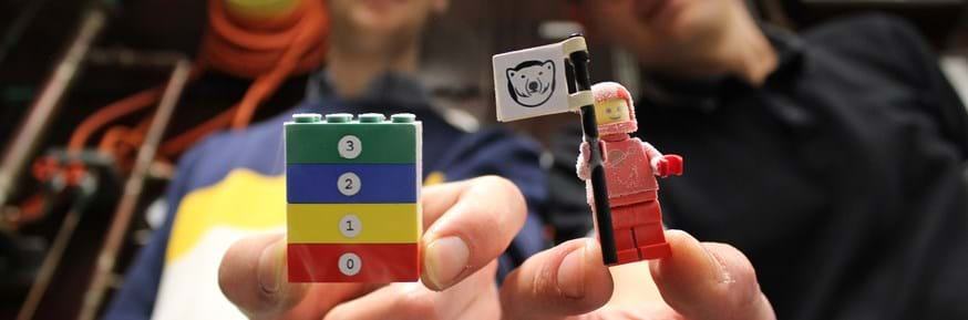 The LEGO ® figure and block used in the experiment