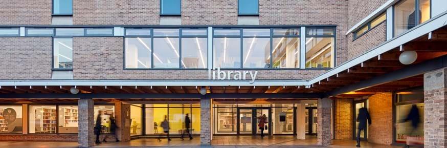 Lancaster University Library entrance