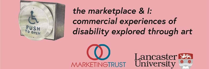A logo for The Marketplace & I: Commercial Experiences of Disability Explored Through Art