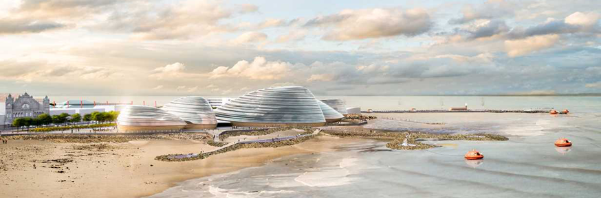 An artist's impression of Eden Project North, a proposed new attraction for Morecambe Bay