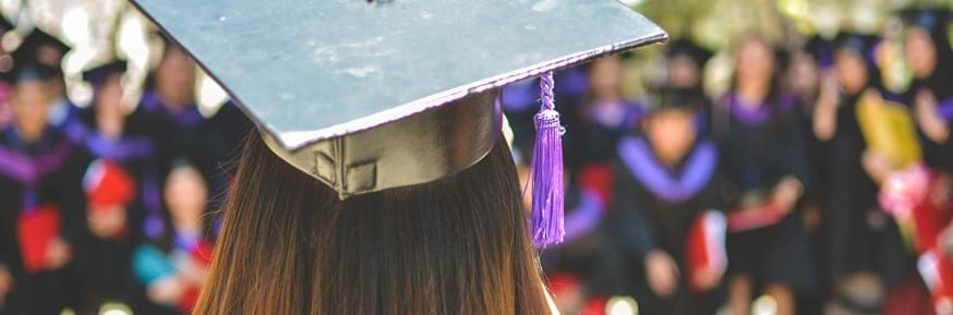 A female student at her graduation