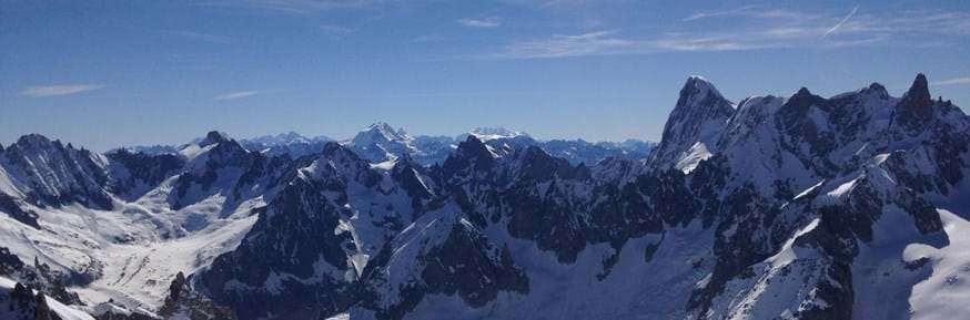 participants were also taken in a cable car to a high altitude laboratory at the top of Aiguille du Midi mountain in Chamonix in France