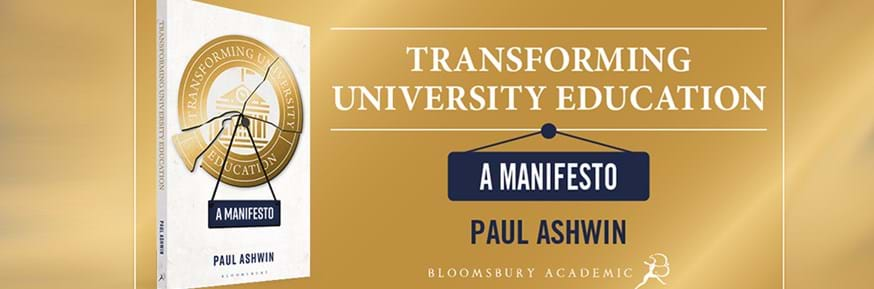 Front cover of Paul Ashwin's book Transforming University Education