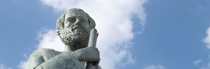 Greek statue of a male