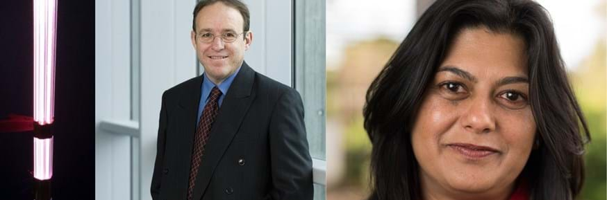 Plasma jet, Professor Rob Short and Dr Sherry Kothari