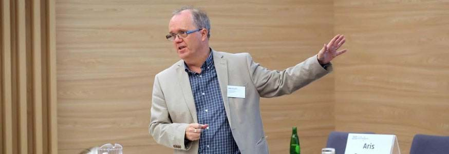 John Boylan presenting on ''Estimating discrete cumulative distributions by resampling''